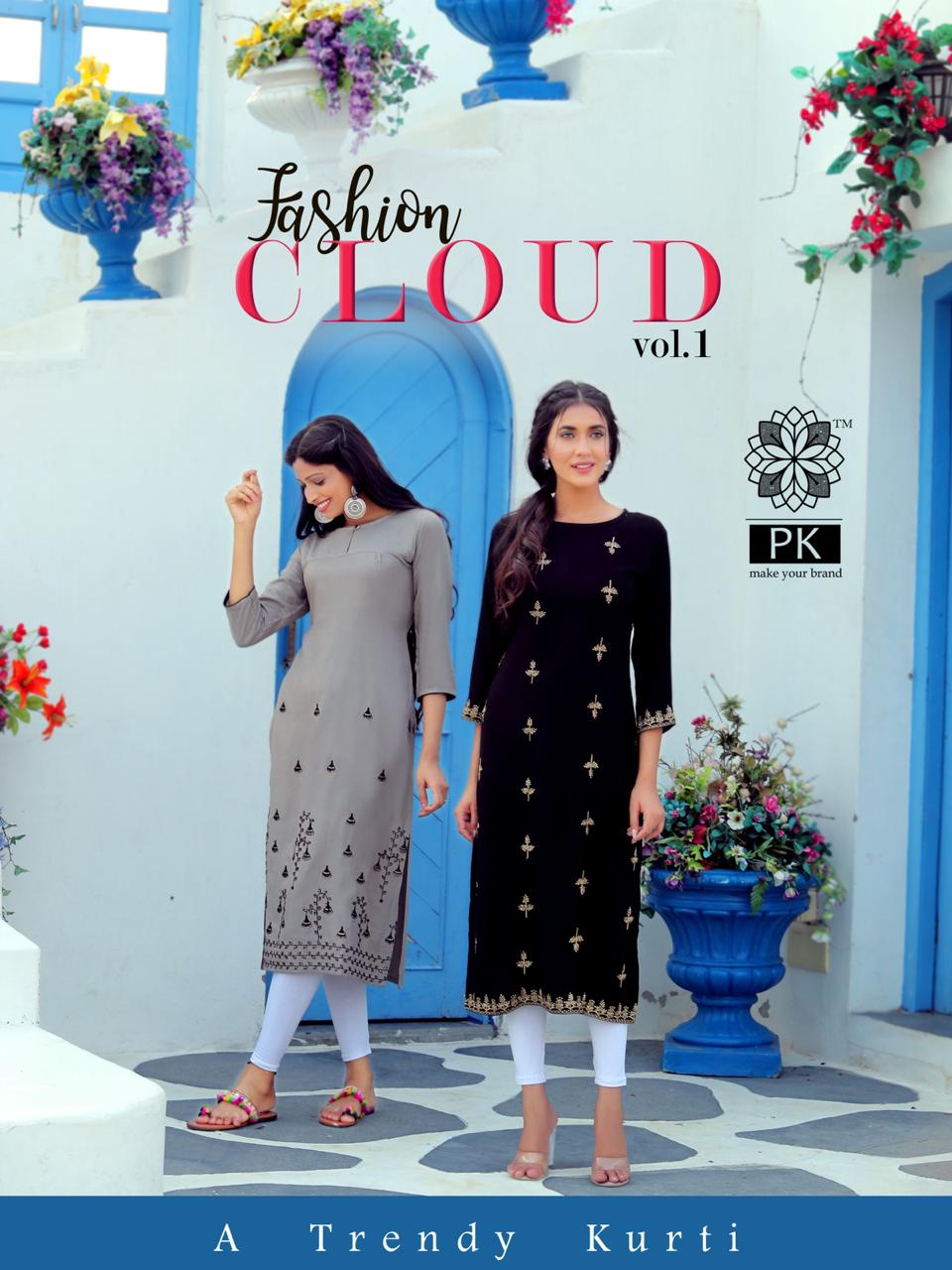 Pk Fashion Cloud Vol 1 Kurti Wholesale Catalog 6 Pcs 5 - Pk Fashion Cloud Vol 1 Kurti Wholesale Catalog 6 Pcs