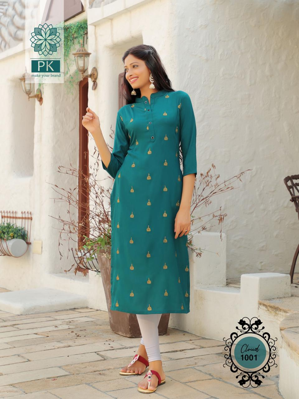 Pk Fashion Cloud Vol 1 Kurti Wholesale Catalog 6 Pcs 7 - Pk Fashion Cloud Vol 1 Kurti Wholesale Catalog 6 Pcs