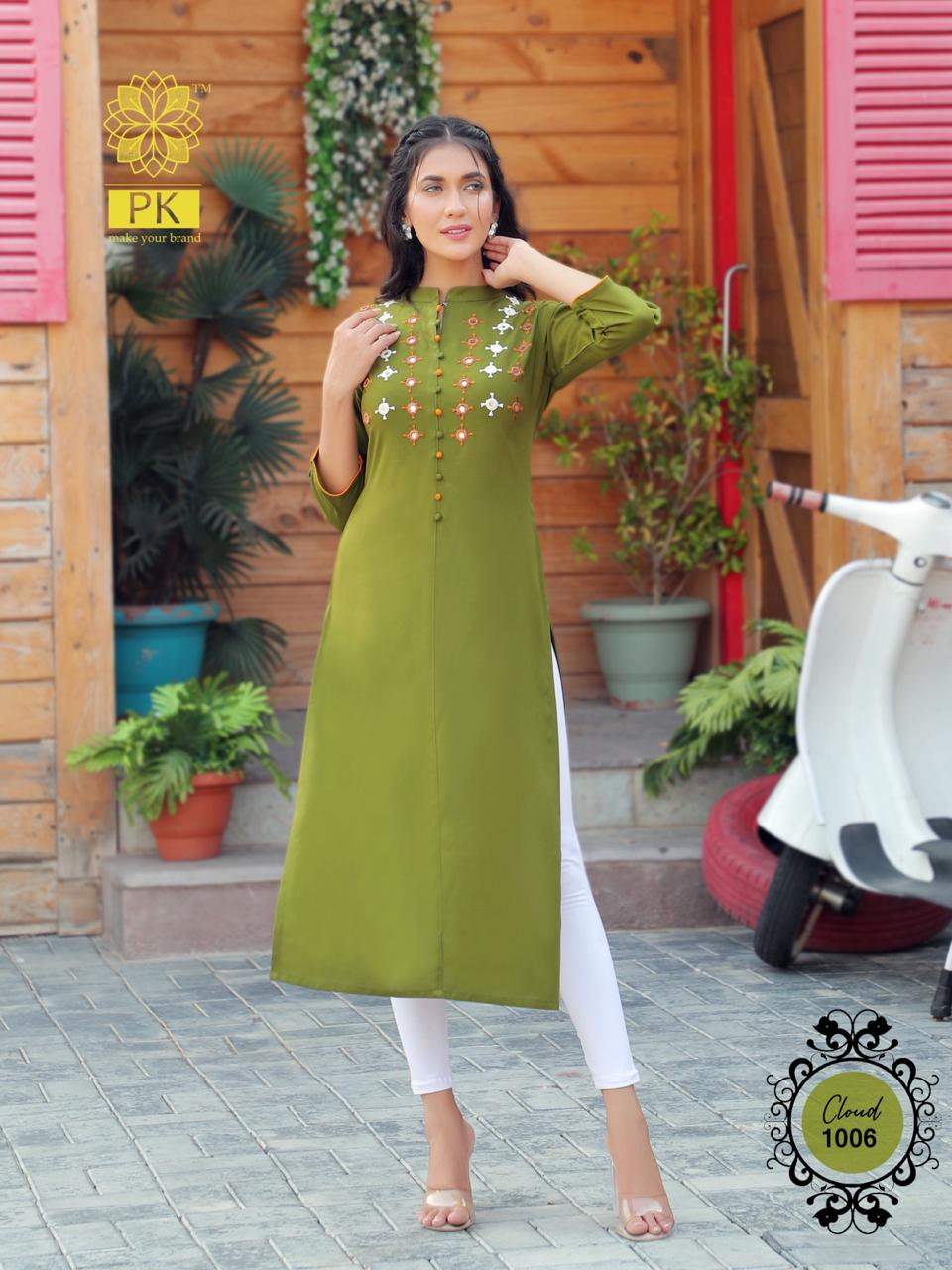 Pk Fashion Cloud Vol 1 Kurti Wholesale Catalog 6 Pcs 8 - Pk Fashion Cloud Vol 1 Kurti Wholesale Catalog 6 Pcs