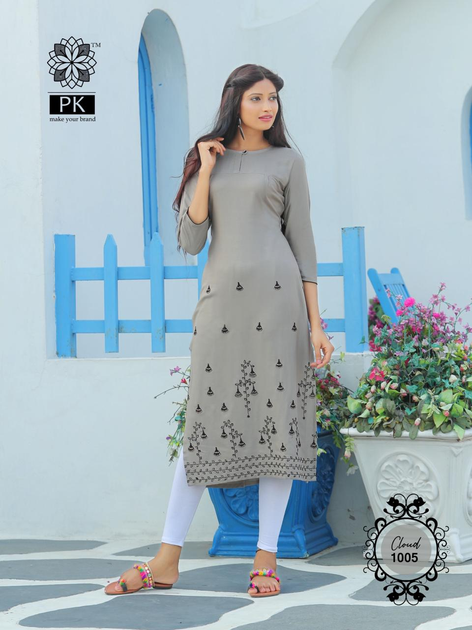 Pk Fashion Cloud Vol 1 Kurti Wholesale Catalog 6 Pcs 9 - Pk Fashion Cloud Vol 1 Kurti Wholesale Catalog 6 Pcs