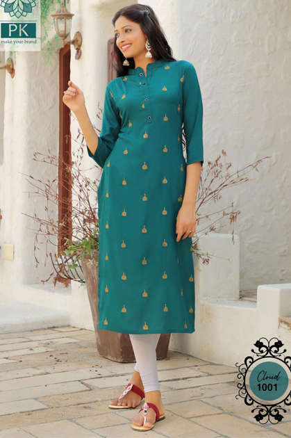 Pk Fashion Cloud Vol 1 Kurti Wholesale Catalog 6 Pcs