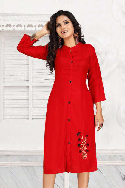 Purvi Vol 4 Kurti Wholesale Catalog 7 Pcs