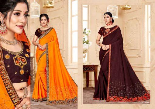 Ranjna Raisin Saree Sari Wholesale Catalog 8 Pcs 4 510x357 - Ranjna Raisin Saree Sari Wholesale Catalog 8 Pcs