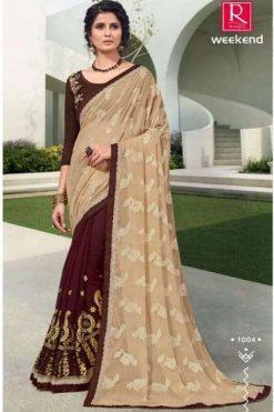 Ranjna Weekend Saree Sari Wholesale Catalog 6 Pcs