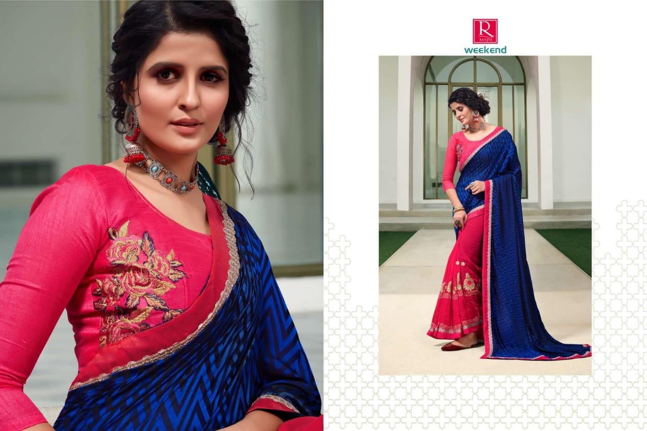 Ranjna Weekend Saree Sari Wholesale Catalog 6 Pcs 5 - Ranjna Weekend Saree Sari Wholesale Catalog 6 Pcs
