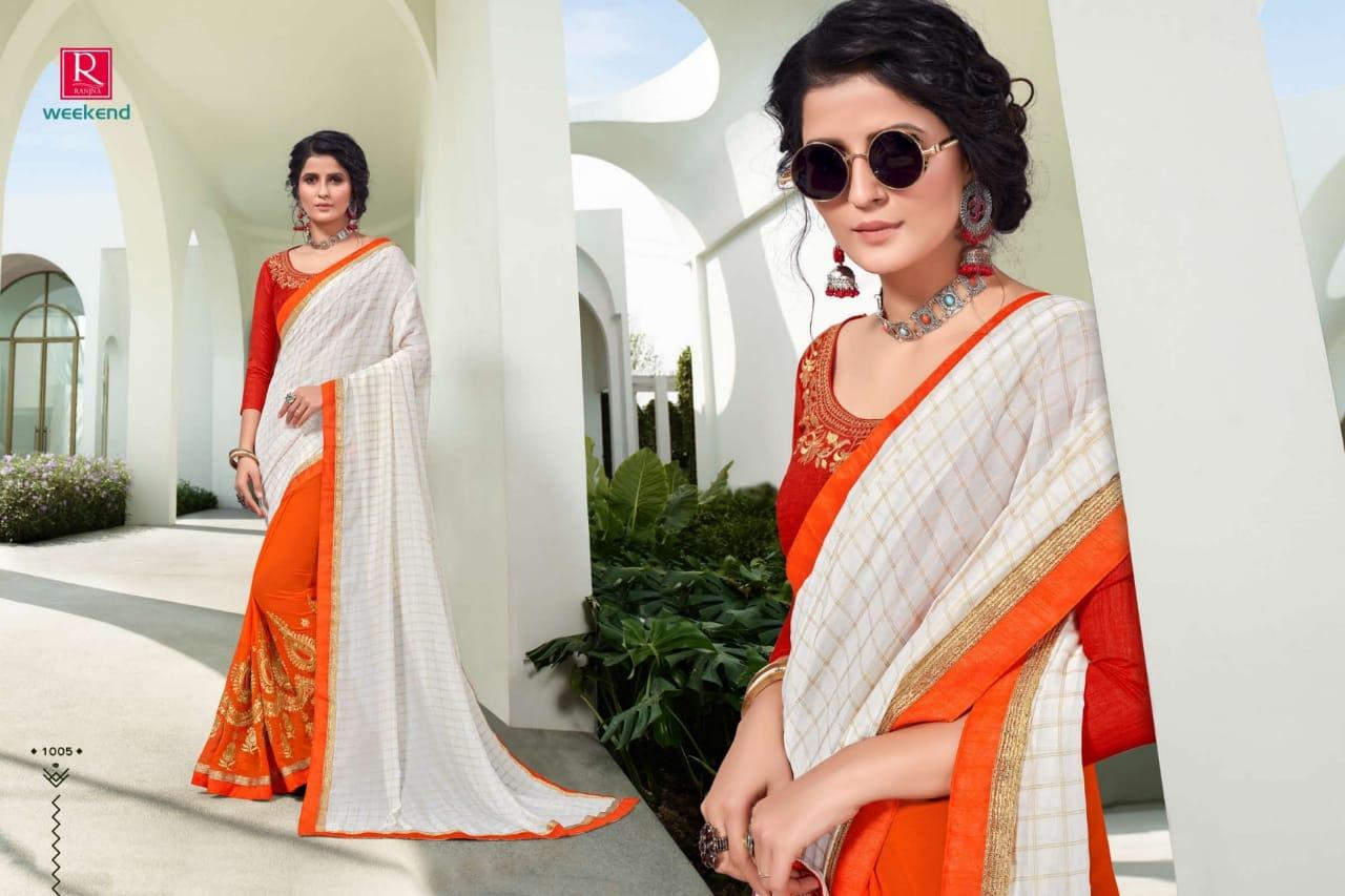 Ranjna Weekend Saree Sari Wholesale Catalog 6 Pcs 7 - Ranjna Weekend Saree Sari Wholesale Catalog 6 Pcs