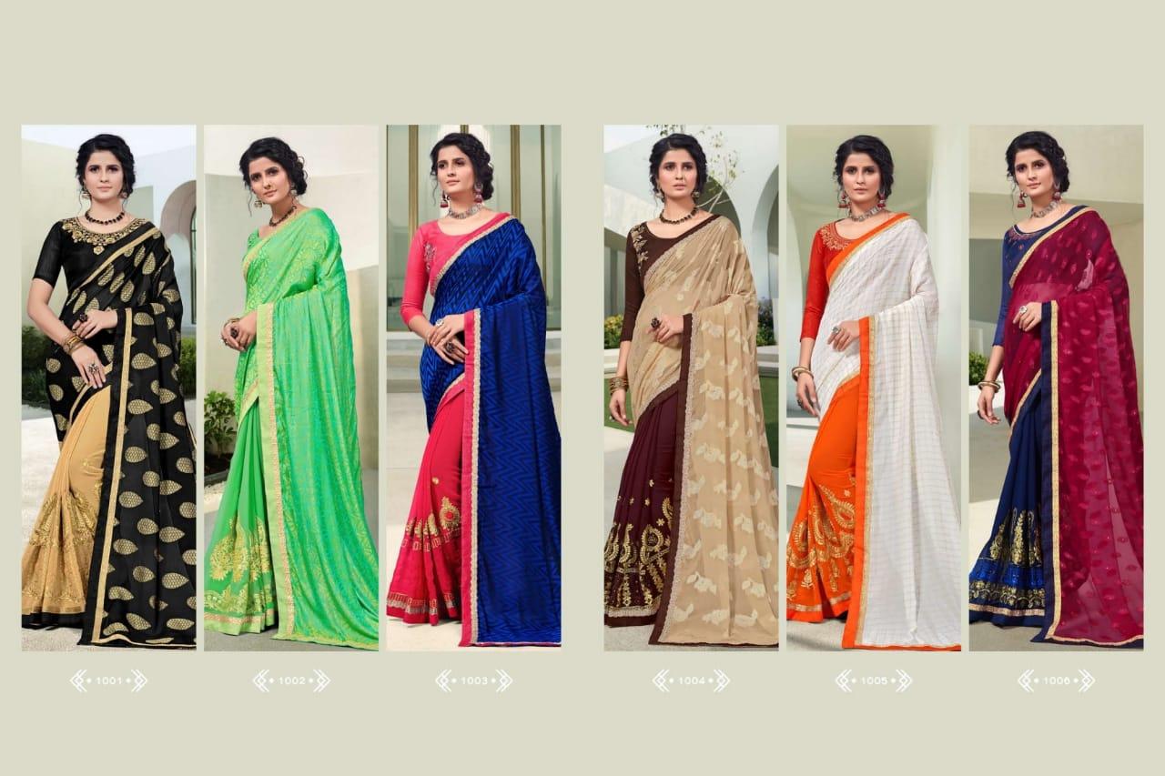 Ranjna Weekend Saree Sari Wholesale Catalog 6 Pcs 9 - Ranjna Weekend Saree Sari Wholesale Catalog 6 Pcs