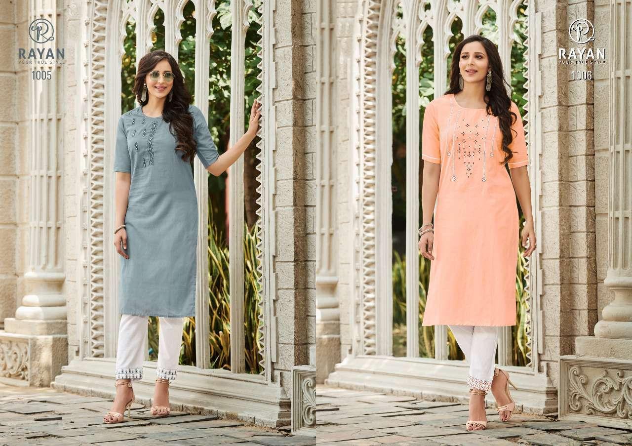 Rayan Tarasa by R Studio Kurti with Pant Wholesale Catalog 6 Pcs 3 - Rayan Tarasa by R Studio Kurti with Pant Wholesale Catalog 6 Pcs