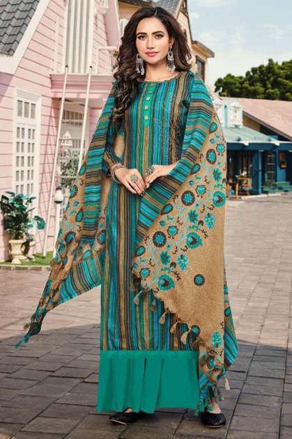 Roli Moli Minar Pashmina Salwar Suit Wholesale Catalog 8 Pcs