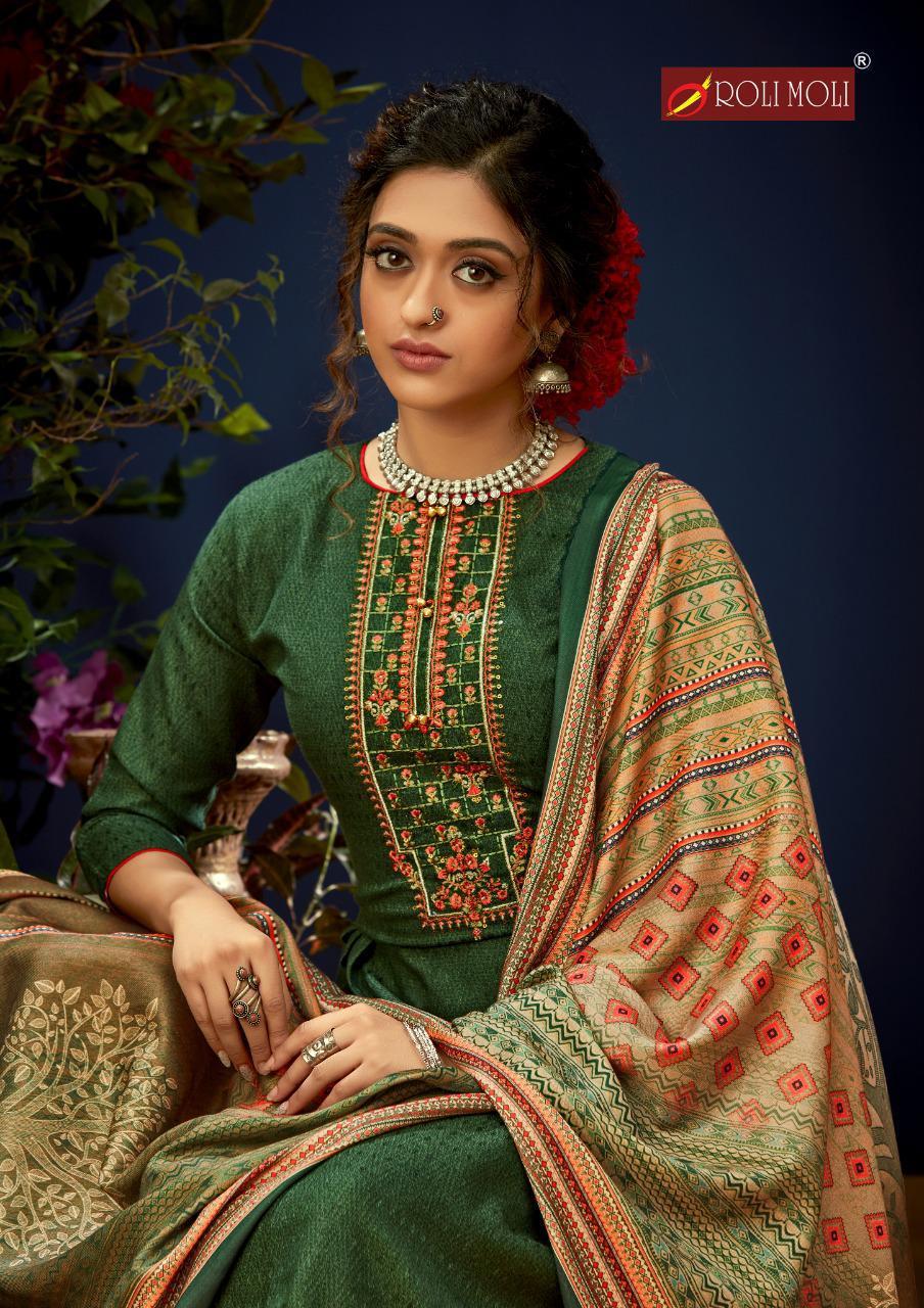 Rolimoli E Zara Pashmina Salwar Suit Wholesale Catalog 8 Pcs 10 - Roli Moli E Zara Pashmina Salwar Suit Wholesale Catalog 8 Pcs