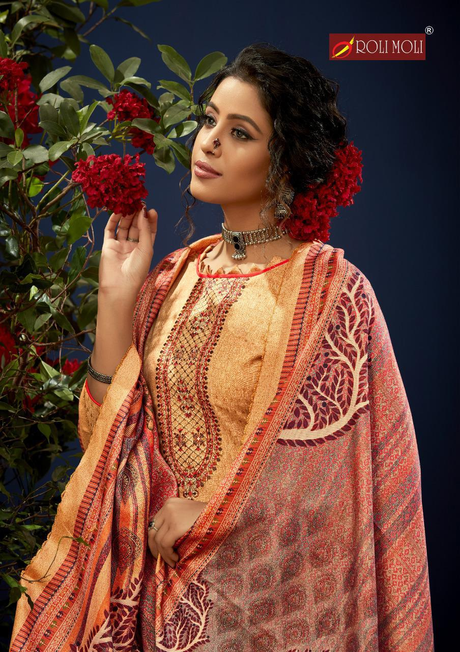 Rolimoli E Zara Pashmina Salwar Suit Wholesale Catalog 8 Pcs 2 - Roli Moli E Zara Pashmina Salwar Suit Wholesale Catalog 8 Pcs