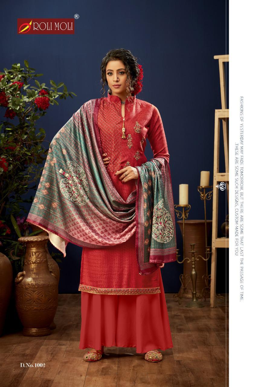 Rolimoli E Zara Pashmina Salwar Suit Wholesale Catalog 8 Pcs 7 - Roli Moli E Zara Pashmina Salwar Suit Wholesale Catalog 8 Pcs