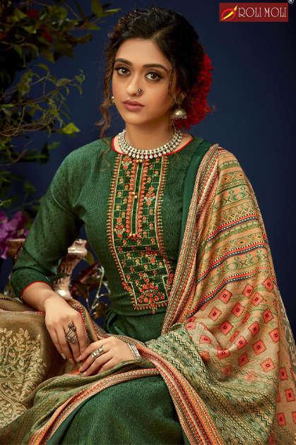 Roli Moli E Zara Pashmina Salwar Suit Wholesale Catalog 8 Pcs