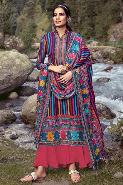Roli Moli Silky Pashmina Salwar Suit Wholesale Catalog 8 Pcs