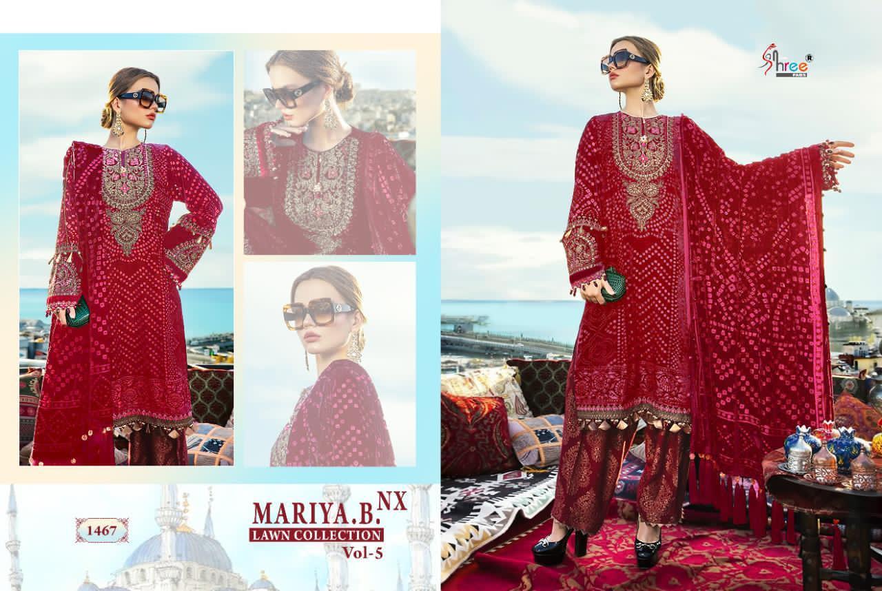 Shree Fabs Mariya B Lawn Collection Vol 5 Nx Salwar Suit Wholesale Catalog 6 Pcs 11 - Shree Fabs Mariya B Lawn Collection Vol 5 Nx Salwar Suit Wholesale Catalog 6 Pcs