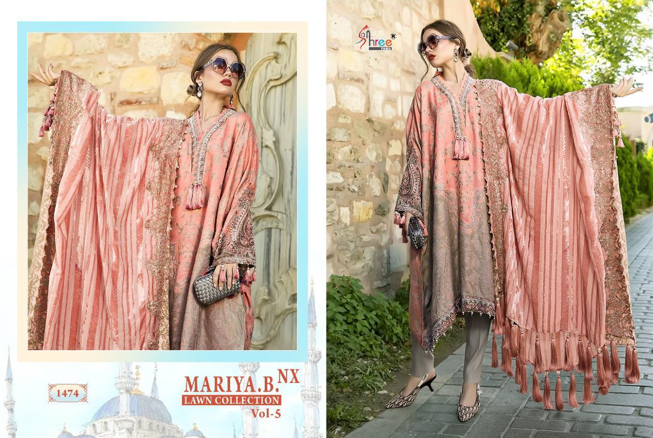 Shree Fabs Mariya B Lawn Collection Vol 5 Nx Salwar Suit Wholesale Catalog 6 Pcs 4 - Shree Fabs Mariya B Lawn Collection Vol 5 Nx Salwar Suit Wholesale Catalog 6 Pcs