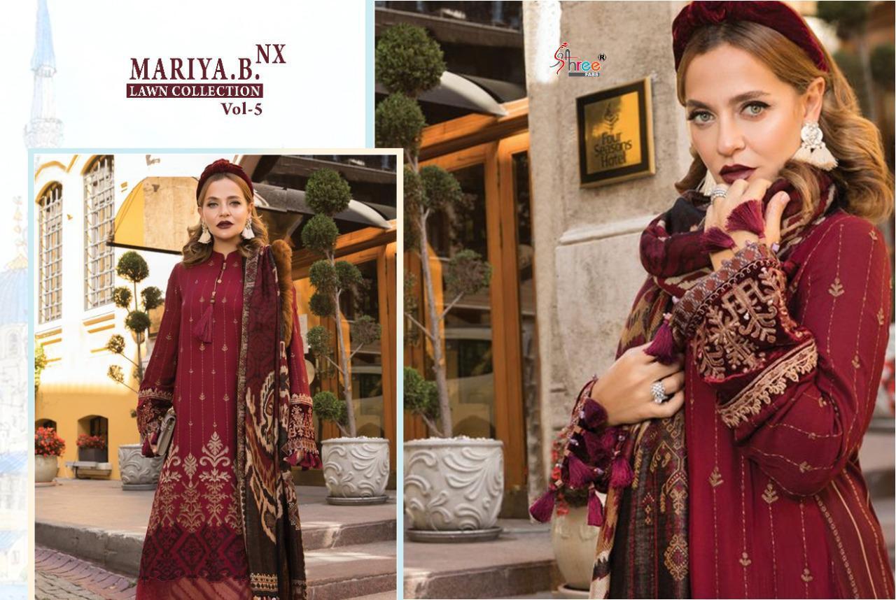 Shree Fabs Mariya B Lawn Collection Vol 5 Nx Salwar Suit Wholesale Catalog 6 Pcs 9 - Shree Fabs Mariya B Lawn Collection Vol 5 Nx Salwar Suit Wholesale Catalog 6 Pcs
