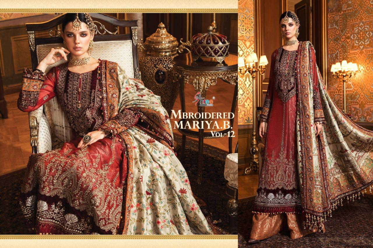 Shree Fabs Mbroidered Mariya B Vol 12 Salwar Suit Wholesale Catalog 6 Pcs 13 - Shree Fabs Mbroidered Mariya B Vol 12 Salwar Suit Wholesale Catalog 6 Pcs
