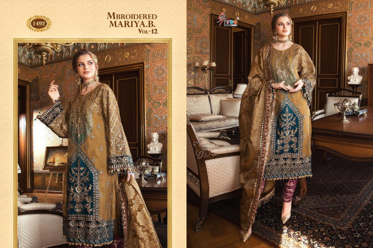 Shree Fabs Mbroidered Mariya B Vol 12 Salwar Suit Wholesale Catalog 6 Pcs 3 - Shree Fabs Mbroidered Mariya B Vol 12 Salwar Suit Wholesale Catalog 6 Pcs