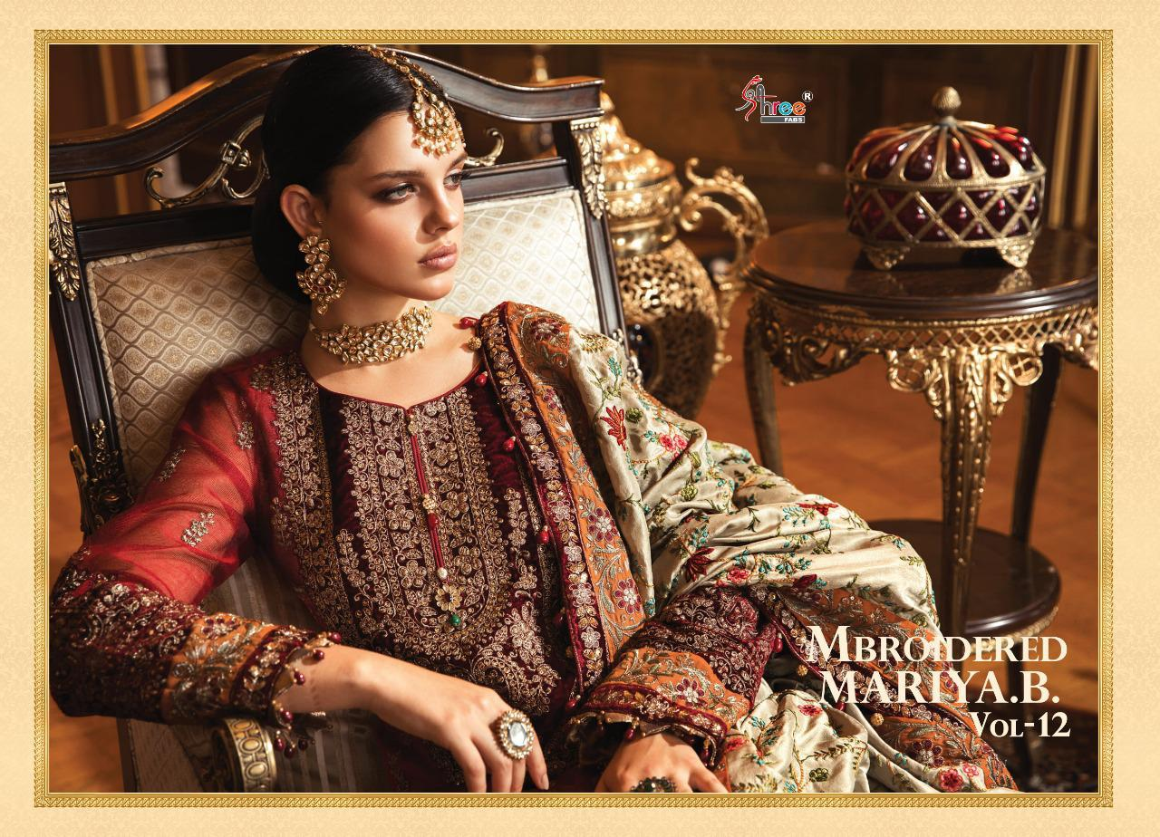 Shree Fabs Mbroidered Mariya B Vol 12 Salwar Suit Wholesale Catalog 6 Pcs 8 - Shree Fabs Mbroidered Mariya B Vol 12 Salwar Suit Wholesale Catalog 6 Pcs
