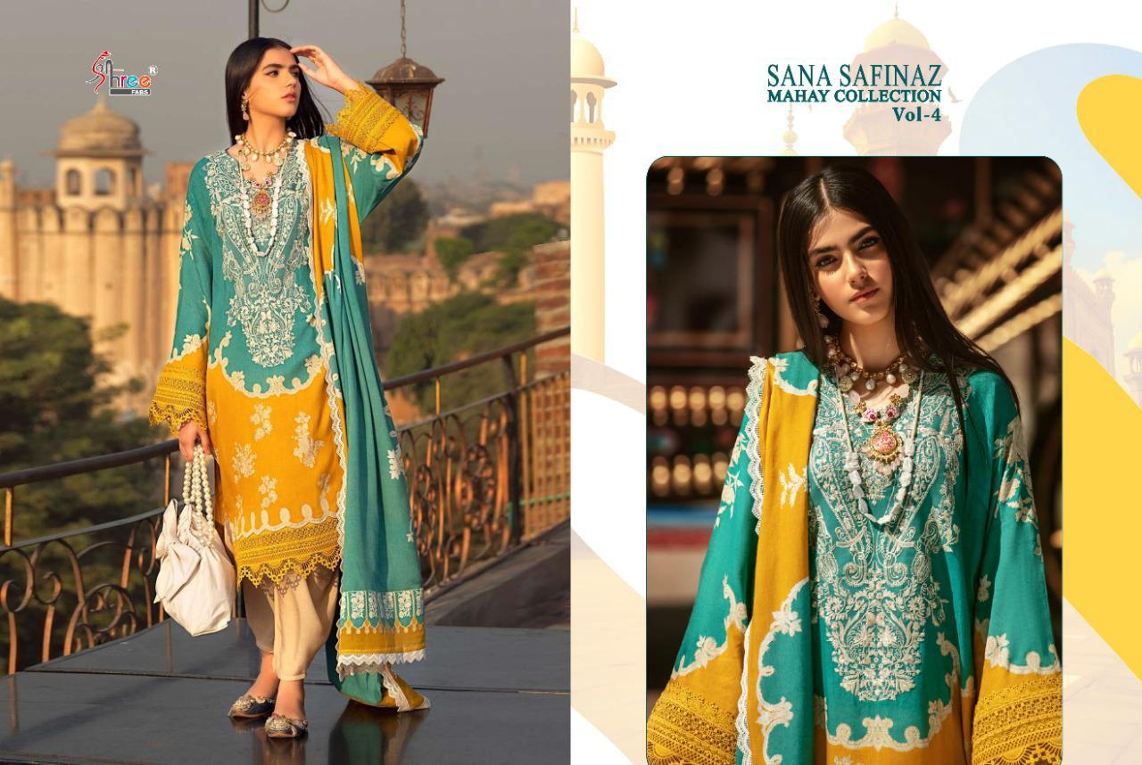 Shree Fabs Sana Safinaz Mahay Collection Vol 4 Salwar Suit Wholesale Catalog 6 Pcs 1 - Shree Fabs Sana Safinaz Mahay Collection Vol 4 Salwar Suit Wholesale Catalog 6 Pcs