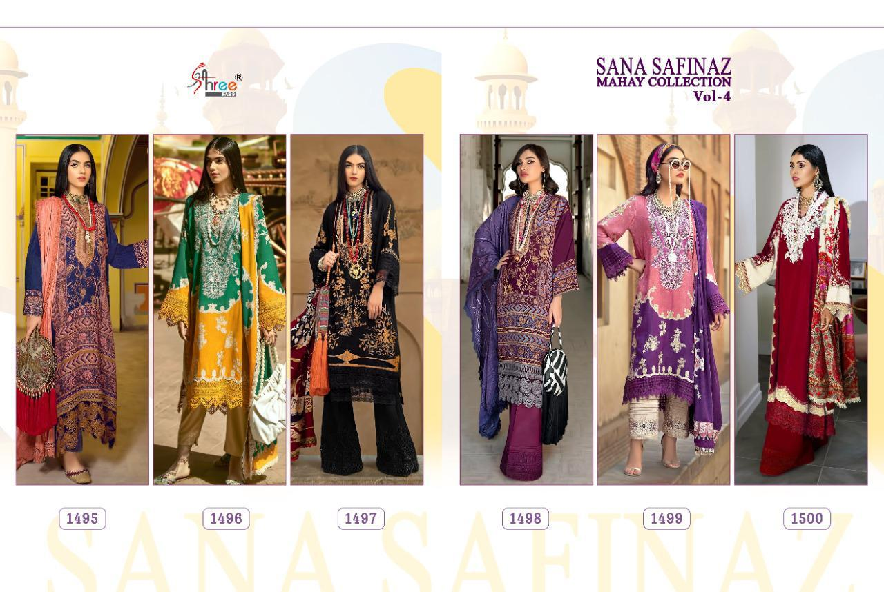 Shree Fabs Sana Safinaz Mahay Collection Vol 4 Salwar Suit Wholesale Catalog 6 Pcs 13 - Shree Fabs Sana Safinaz Mahay Collection Vol 4 Salwar Suit Wholesale Catalog 6 Pcs