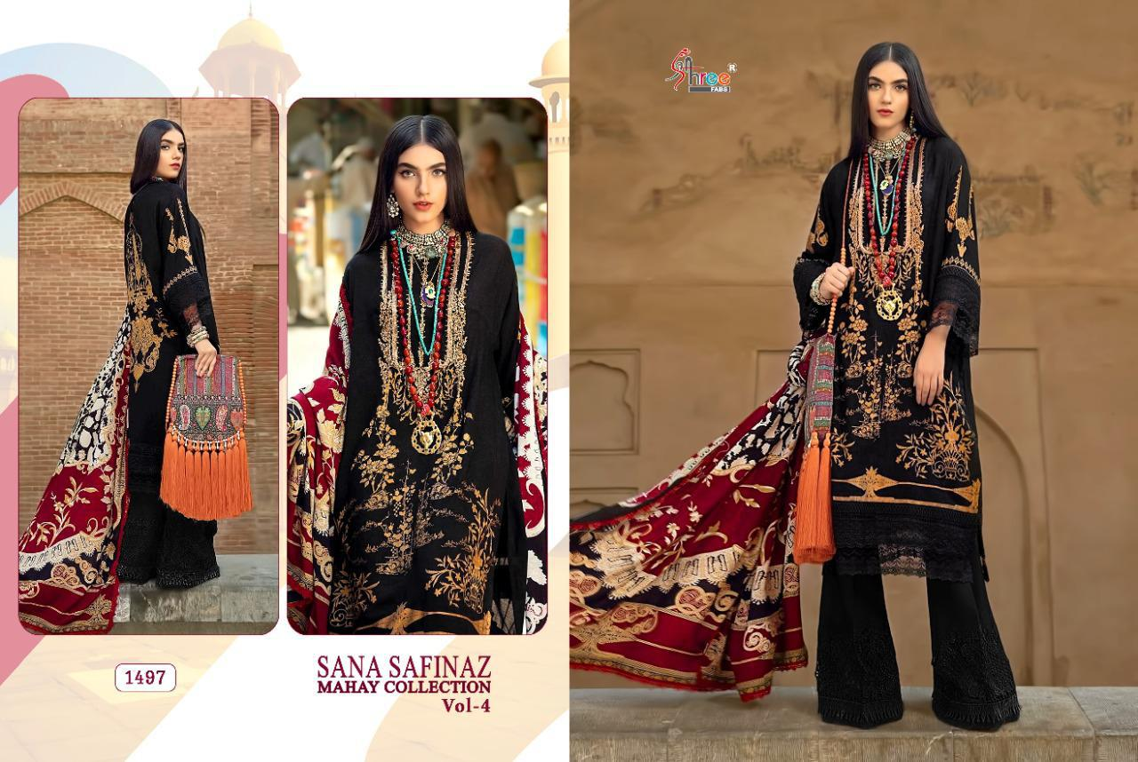 Shree Fabs Sana Safinaz Mahay Collection Vol 4 Salwar Suit Wholesale Catalog 6 Pcs 2 - Shree Fabs Sana Safinaz Mahay Collection Vol 4 Salwar Suit Wholesale Catalog 6 Pcs