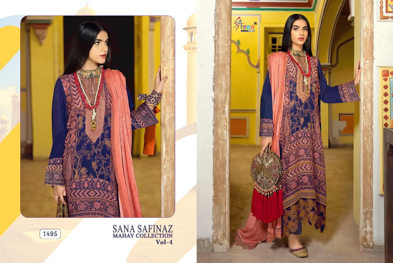 Shree Fabs Sana Safinaz Mahay Collection Vol 4 Salwar Suit Wholesale Catalog 6 Pcs 4 - Shree Fabs Sana Safinaz Mahay Collection Vol 4 Salwar Suit Wholesale Catalog 6 Pcs