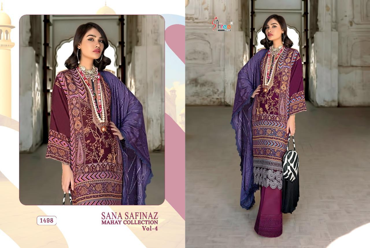 Shree Fabs Sana Safinaz Mahay Collection Vol 4 Salwar Suit Wholesale Catalog 6 Pcs 6 - Shree Fabs Sana Safinaz Mahay Collection Vol 4 Salwar Suit Wholesale Catalog 6 Pcs