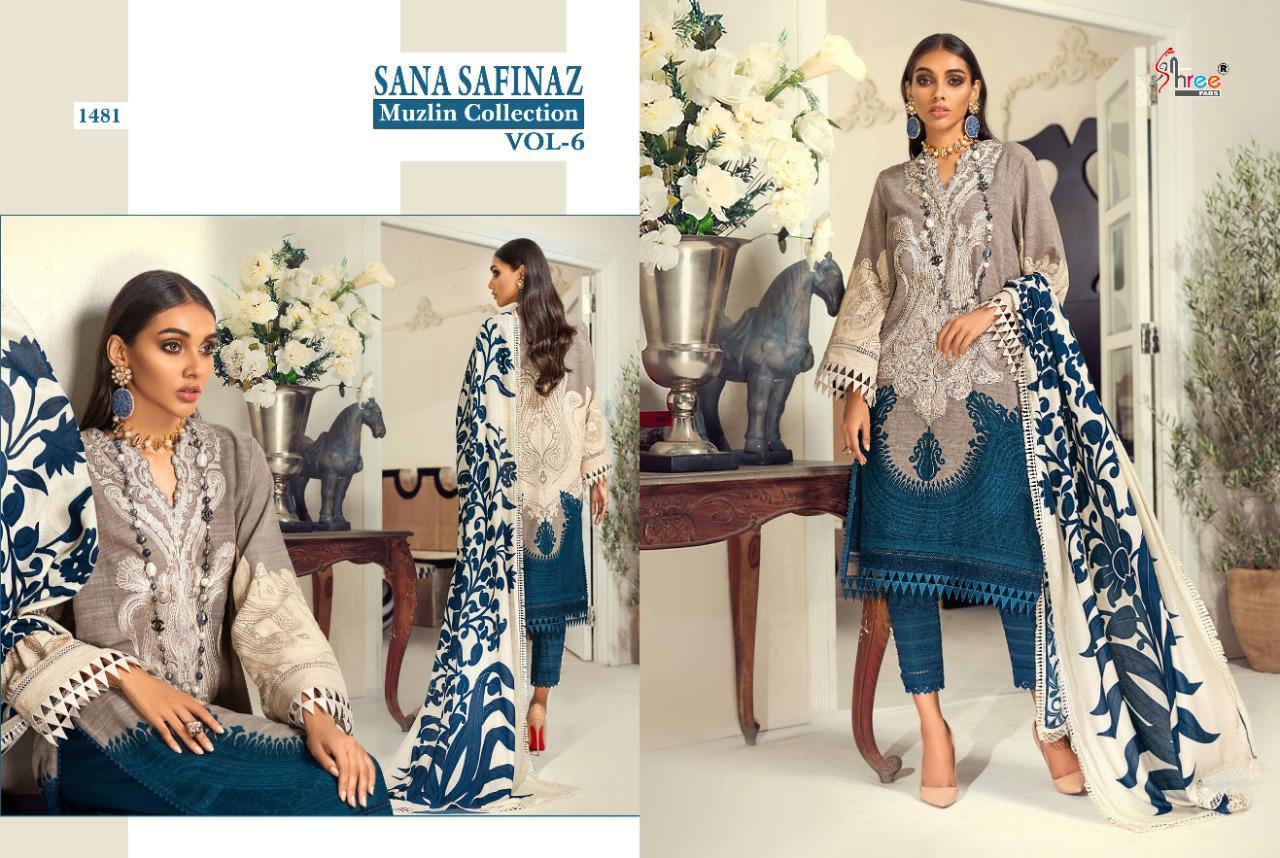 Shree Fabs Sana Safinaz Muzlin Collection Vol 6 Salwar Suit Wholesale Catalog 8 Pcs 14 - Shree Fabs Sana Safinaz Muzlin Collection Vol 6 Salwar Suit Wholesale Catalog 8 Pcs