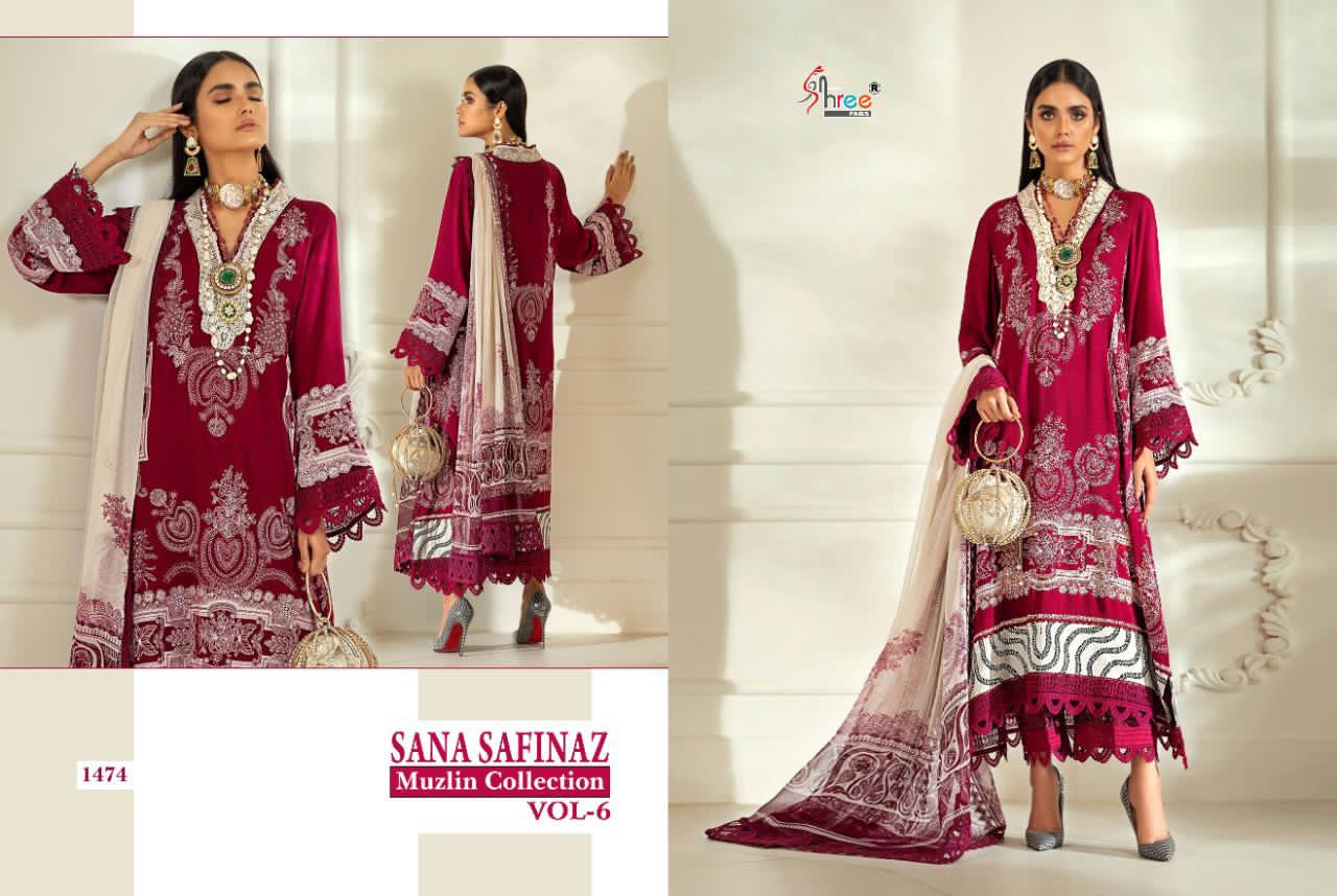 Shree Fabs Sana Safinaz Muzlin Collection Vol 6 Salwar Suit Wholesale Catalog 8 Pcs 3 - Shree Fabs Sana Safinaz Muzlin Collection Vol 6 Salwar Suit Wholesale Catalog 8 Pcs