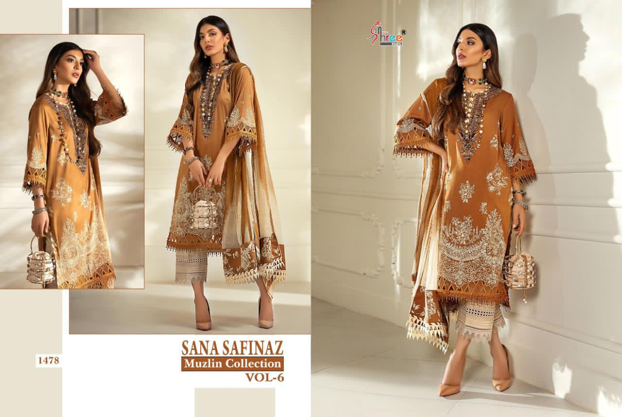 Shree Fabs Sana Safinaz Muzlin Collection Vol 6 Salwar Suit Wholesale Catalog 8 Pcs 5 - Shree Fabs Sana Safinaz Muzlin Collection Vol 6 Salwar Suit Wholesale Catalog 8 Pcs