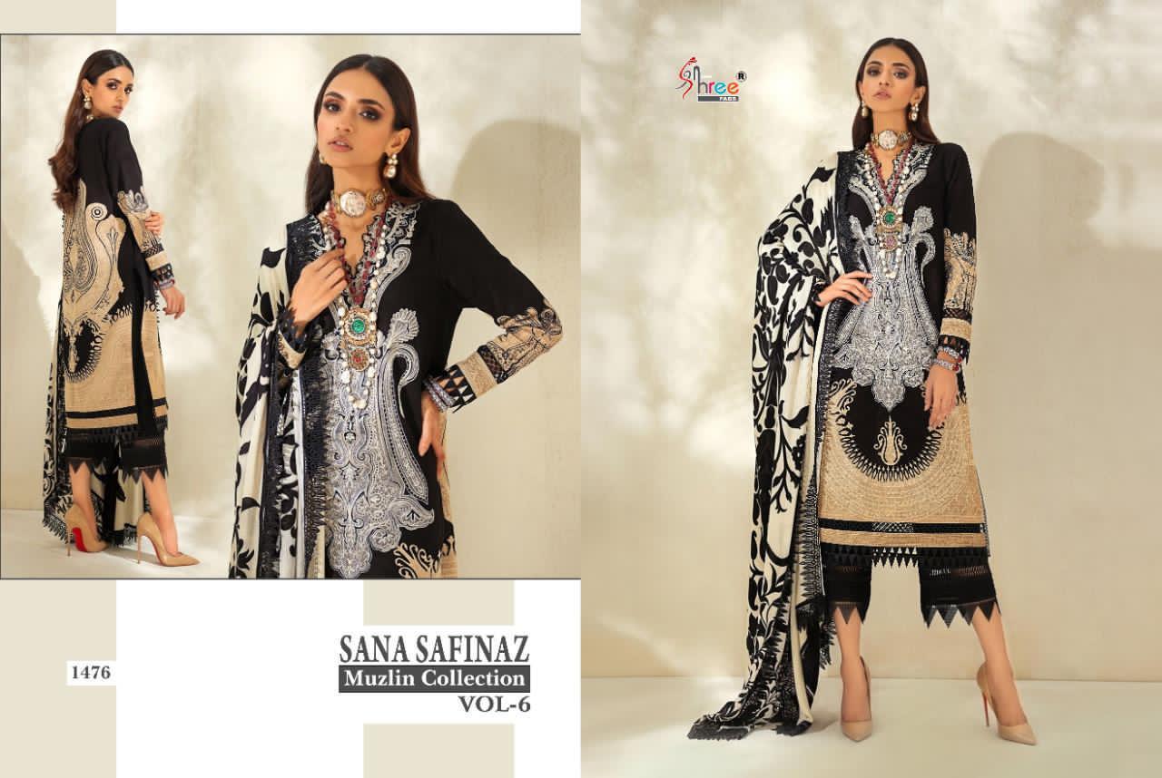 Shree Fabs Sana Safinaz Muzlin Collection Vol 6 Salwar Suit Wholesale Catalog 8 Pcs 6 - Shree Fabs Sana Safinaz Muzlin Collection Vol 6 Salwar Suit Wholesale Catalog 8 Pcs