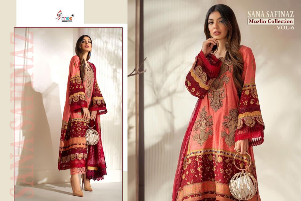 Shree Fabs Sana Safinaz Muzlin Collection Vol 6 Salwar Suit Wholesale Catalog 8 Pcs 7 - Shree Fabs Sana Safinaz Muzlin Collection Vol 6 Salwar Suit Wholesale Catalog 8 Pcs