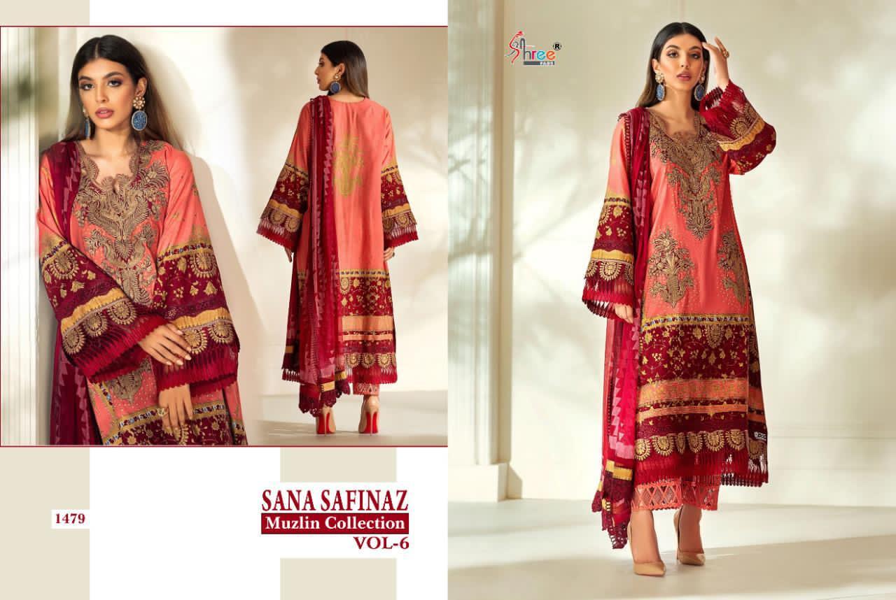 Shree Fabs Sana Safinaz Muzlin Collection Vol 6 Salwar Suit Wholesale Catalog 8 Pcs 8 - Shree Fabs Sana Safinaz Muzlin Collection Vol 6 Salwar Suit Wholesale Catalog 8 Pcs