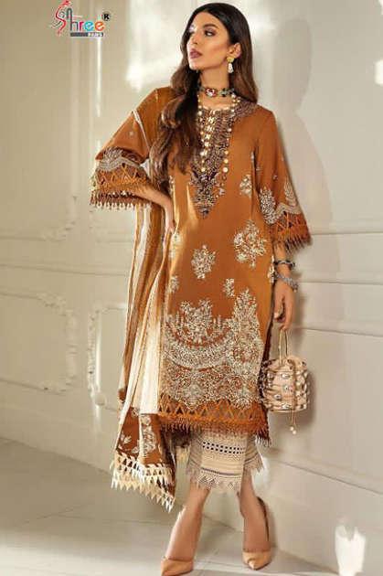 Shree Fabs Sana Safinaz Muzlin Collection Vol 6 Salwar Suit Wholesale Catalog 8 Pcs