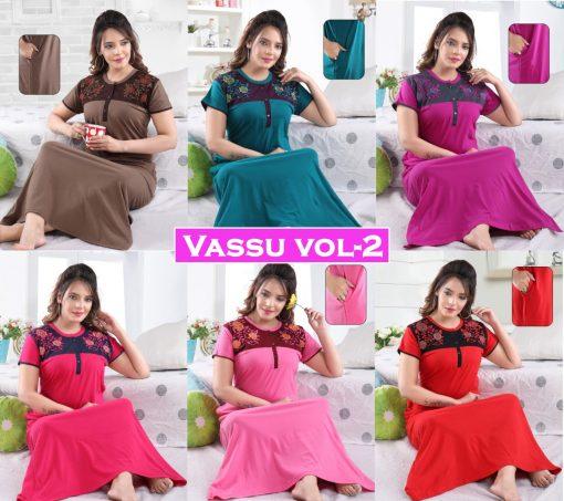 Vassu Vol 2 Nighty Wholesale Catalog 6 Pcs 7 510x453 - Vassu Vol 2 Nighty Wholesale Catalog 6 Pcs