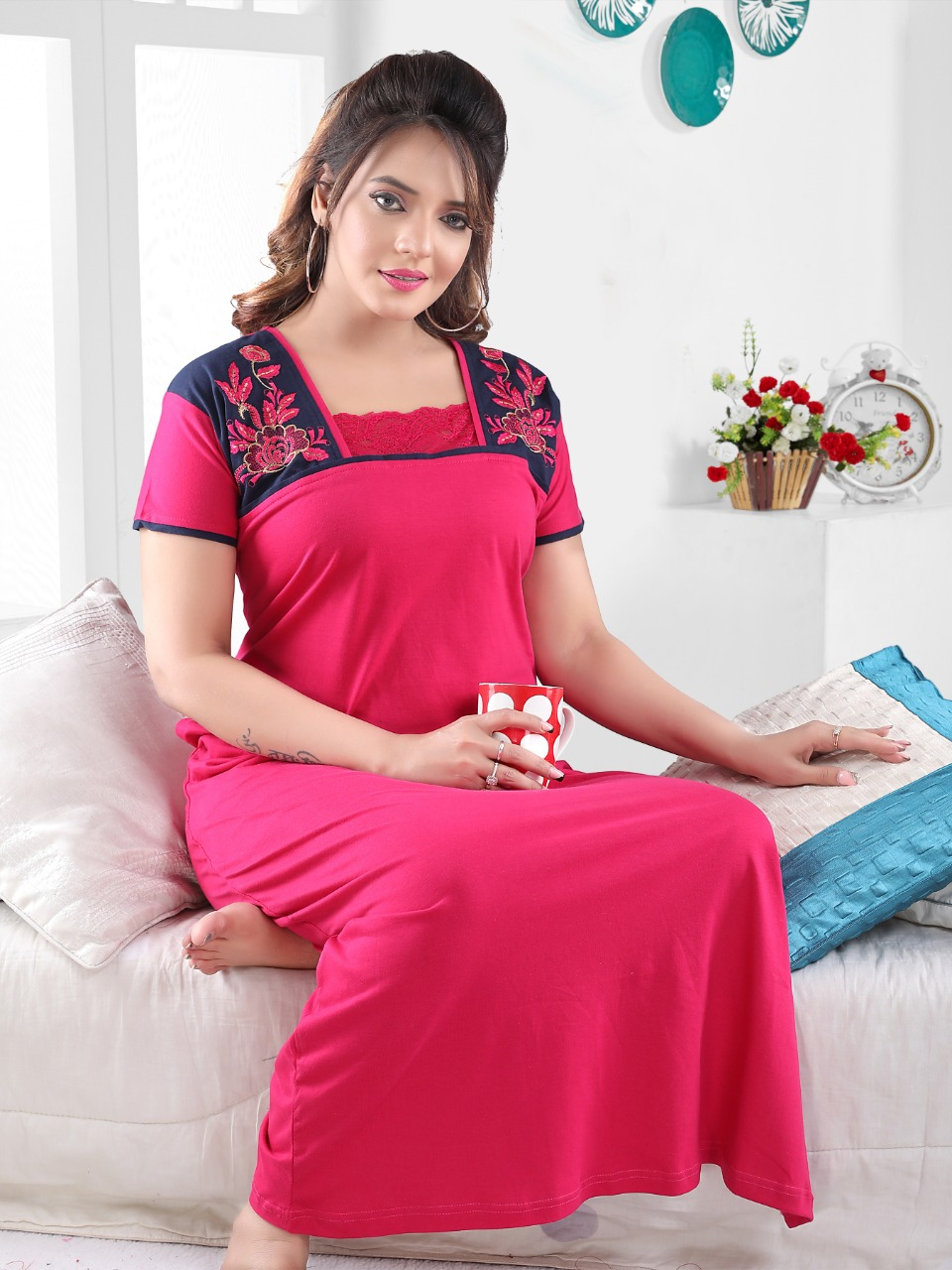 Vassu Vol 4 Nighty Wholesale Catalog 6 Pcs 1 - Vassu Vol 4 Nighty Wholesale Catalog 6 Pcs