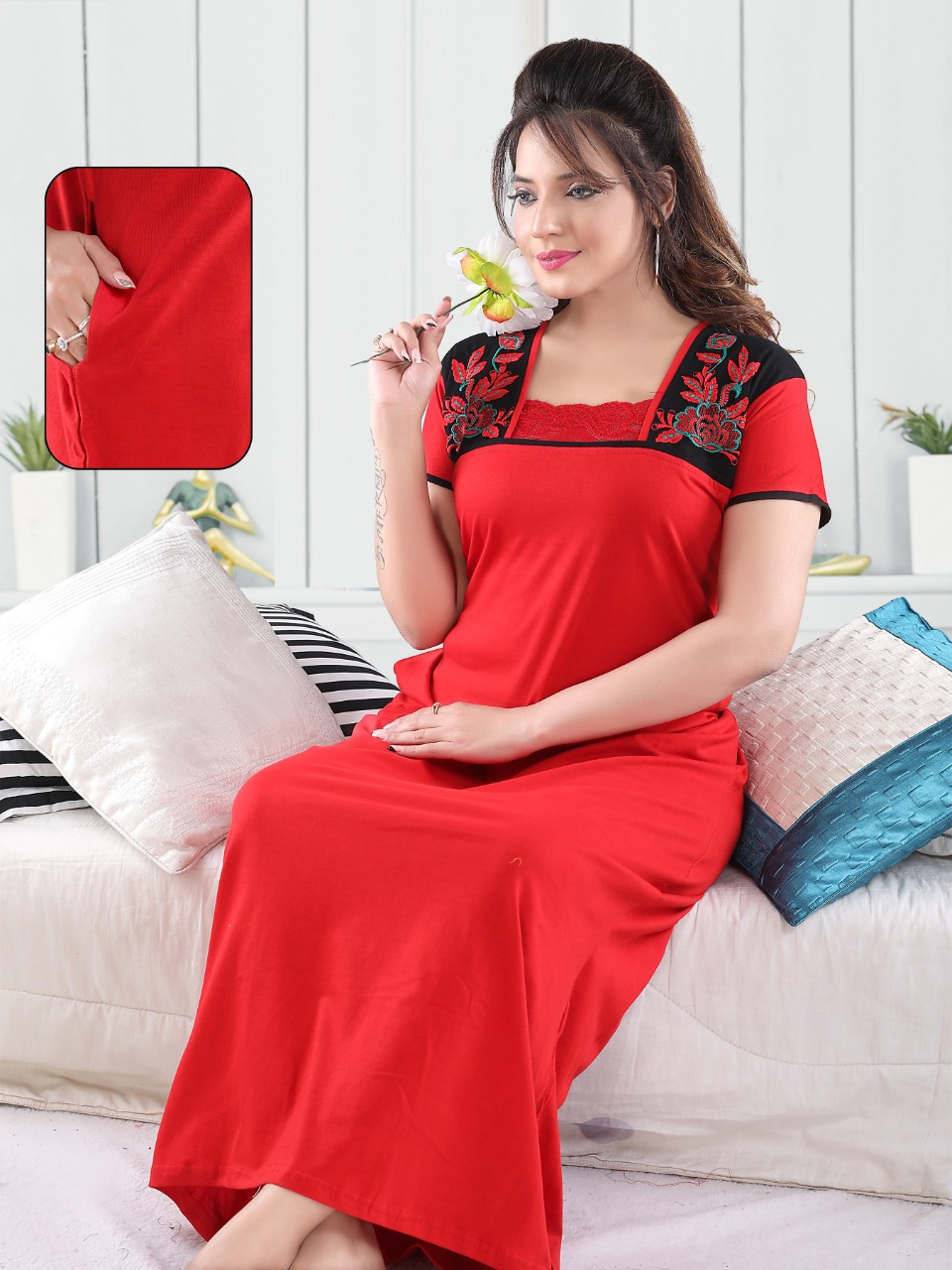 Vassu Vol 4 Nighty Wholesale Catalog 6 Pcs 3 - Vassu Vol 4 Nighty Wholesale Catalog 6 Pcs