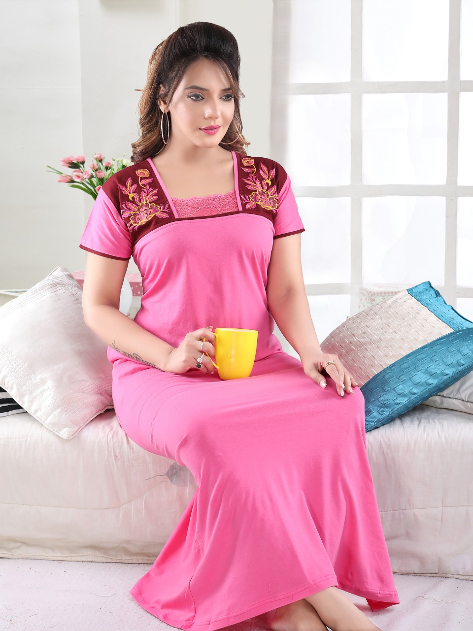 Vassu Vol 4 Nighty Wholesale Catalog 6 Pcs 6 - Vassu Vol 4 Nighty Wholesale Catalog 6 Pcs