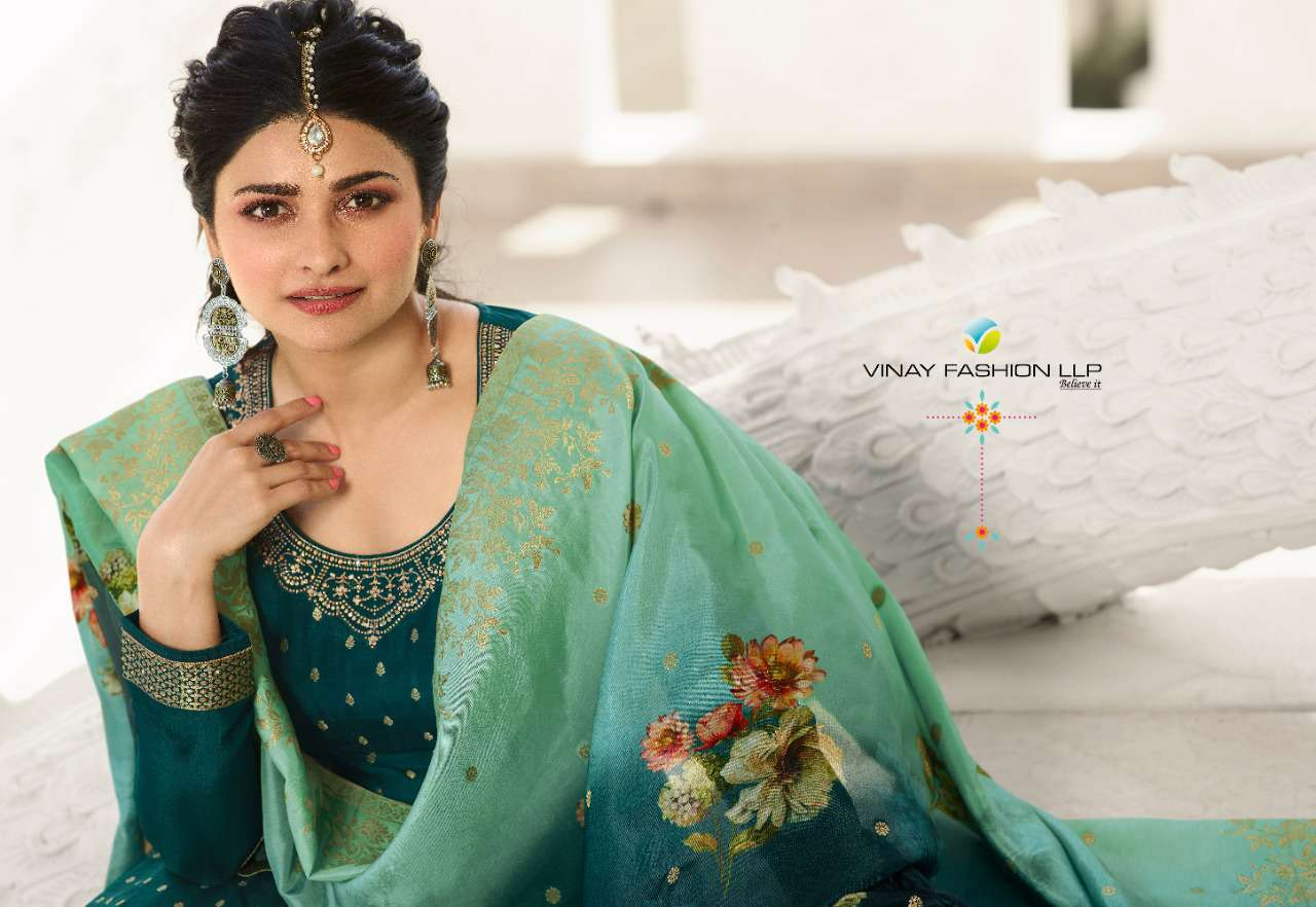 Vinay Kaseesh Zareena Hit List Prachi Desai Salwar Suit Wholesale Catalog 4 Pcs 1 - Vinay Kaseesh Zareena Hit List Prachi Desai Salwar Suit Wholesale Catalog 4 Pcs