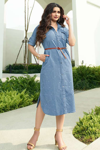 Vinay Tumbaa Denim Kurti Wholesale Catalog 8 Pcs