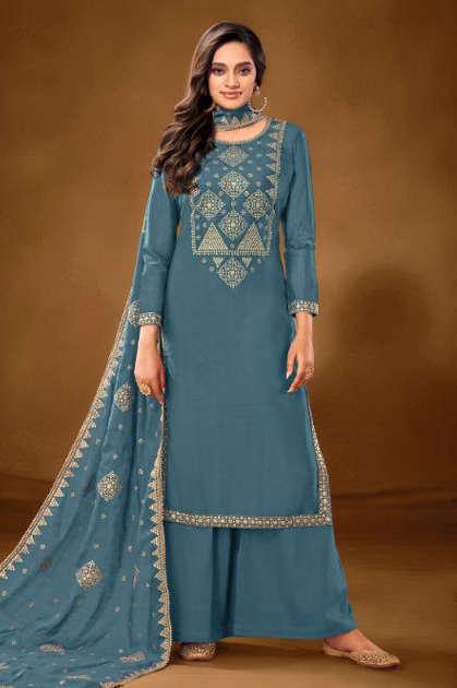 Angroop Next Erika Salwar Suit Wholesale Catalog 8 Pcs