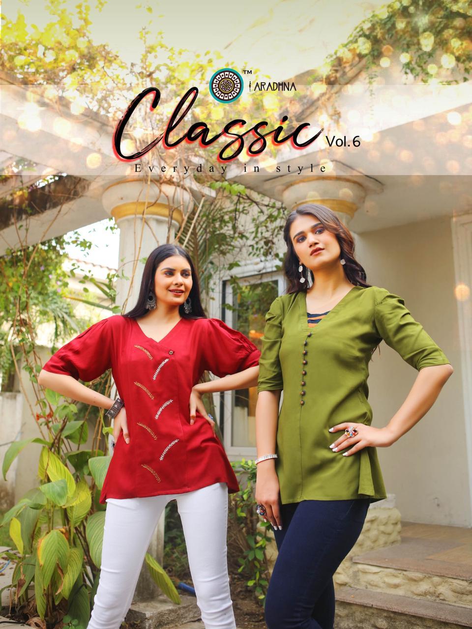 Aradhna Classic Vol 6 Tops Wholesale Catalog 10 Pcs 1 - Aradhna Classic Vol 6 Tops Wholesale Catalog 10 Pcs