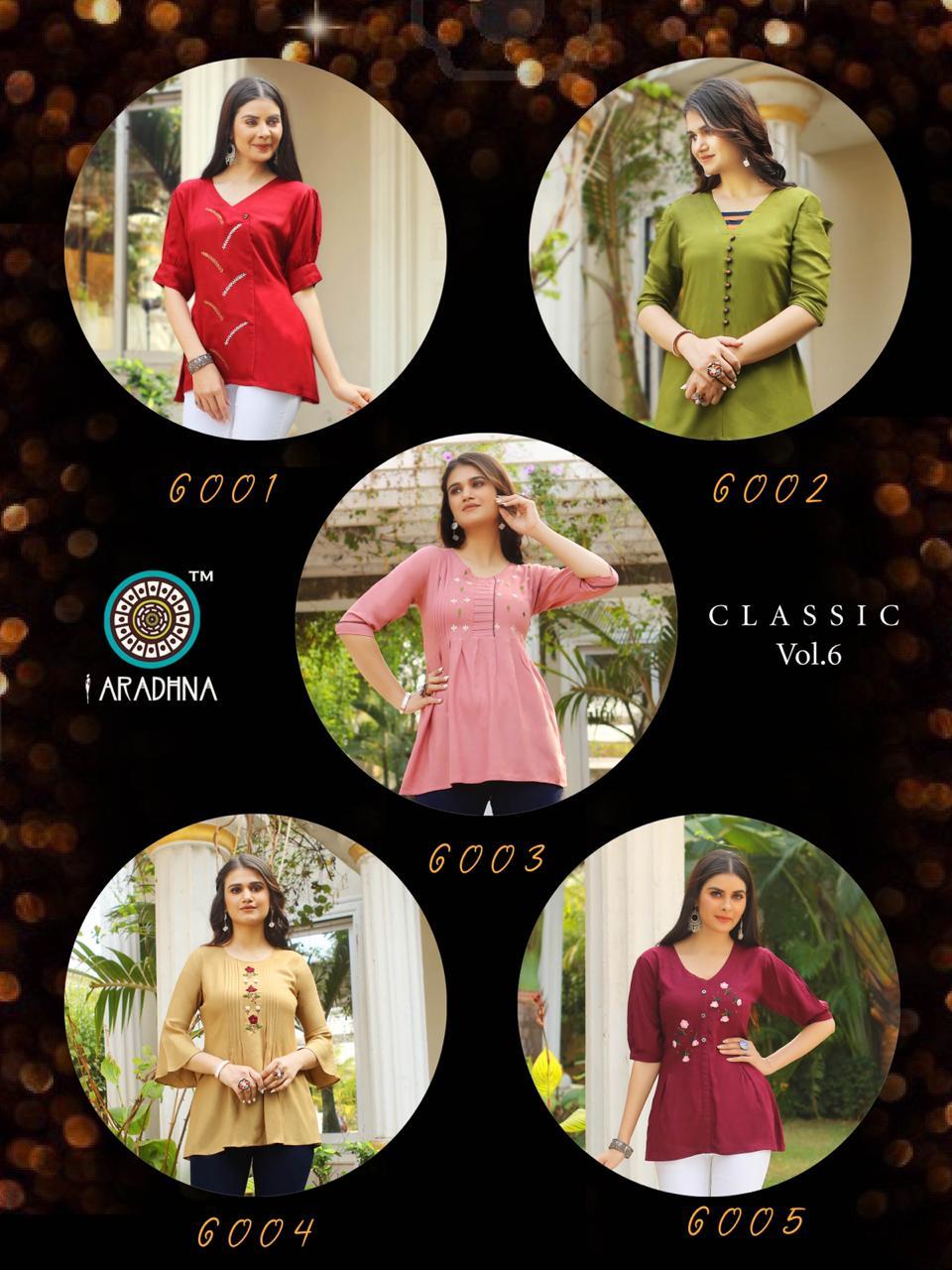 Aradhna Classic Vol 6 Tops Wholesale Catalog 10 Pcs 19 - Aradhna Classic Vol 6 Tops Wholesale Catalog 10 Pcs
