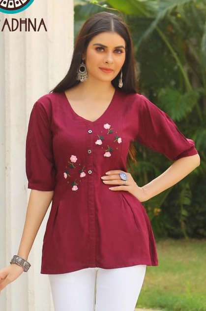 Aradhna Classic Vol 6 Tops Wholesale Catalog 10 Pcs