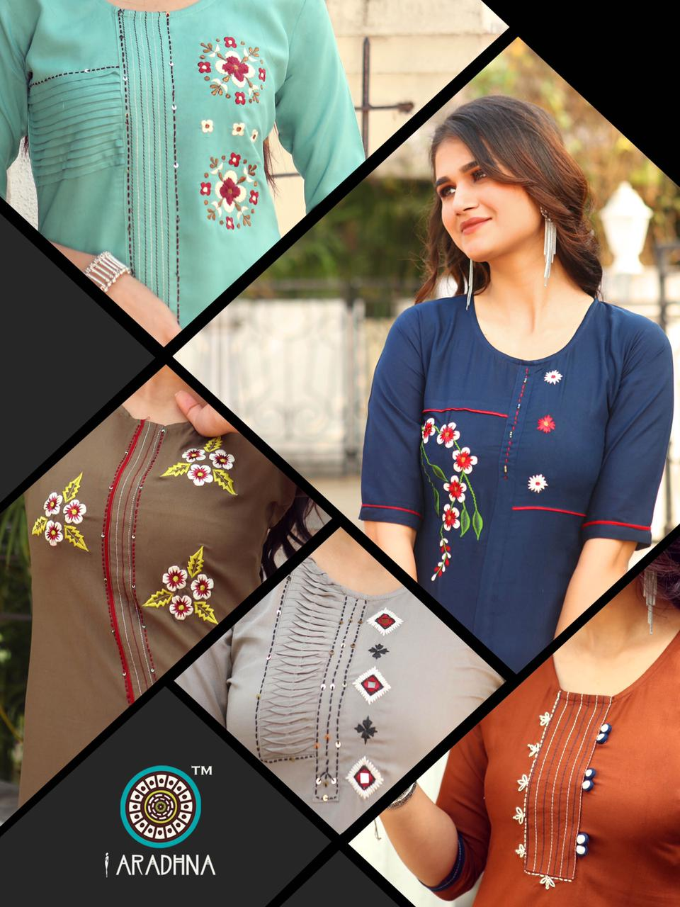 Aradhna Parrot Vol 7 Kurti Wholesale Catalog 11 Pcs 13 - Aradhna Parrot Vol 7 Kurti Wholesale Catalog 11 Pcs