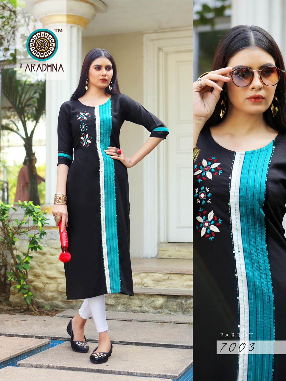Aradhna Parrot Vol 7 Kurti Wholesale Catalog 11 Pcs 15 - Aradhna Parrot Vol 7 Kurti Wholesale Catalog 11 Pcs