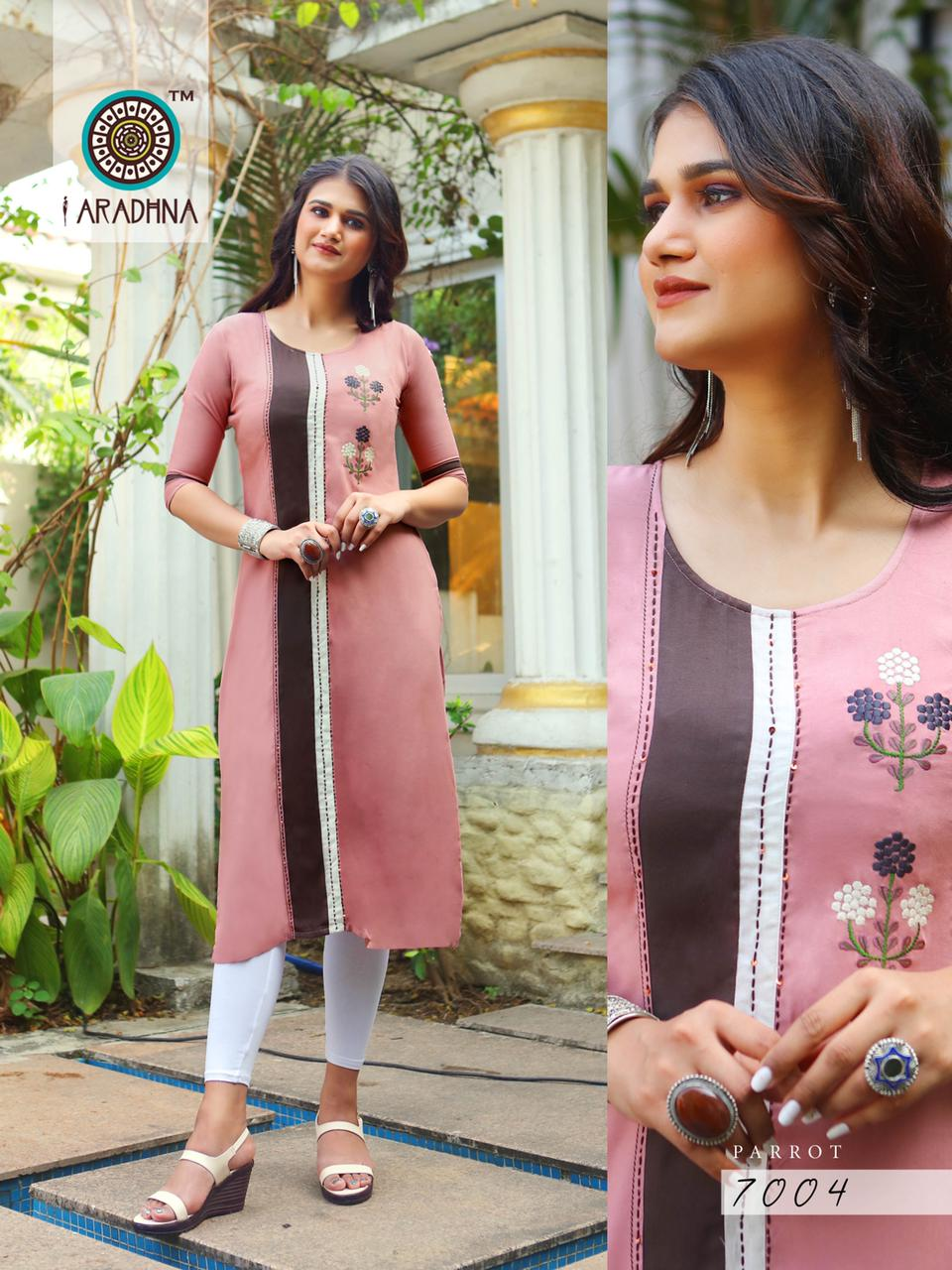 Aradhna Parrot Vol 7 Kurti Wholesale Catalog 11 Pcs 17 - Aradhna Parrot Vol 7 Kurti Wholesale Catalog 11 Pcs