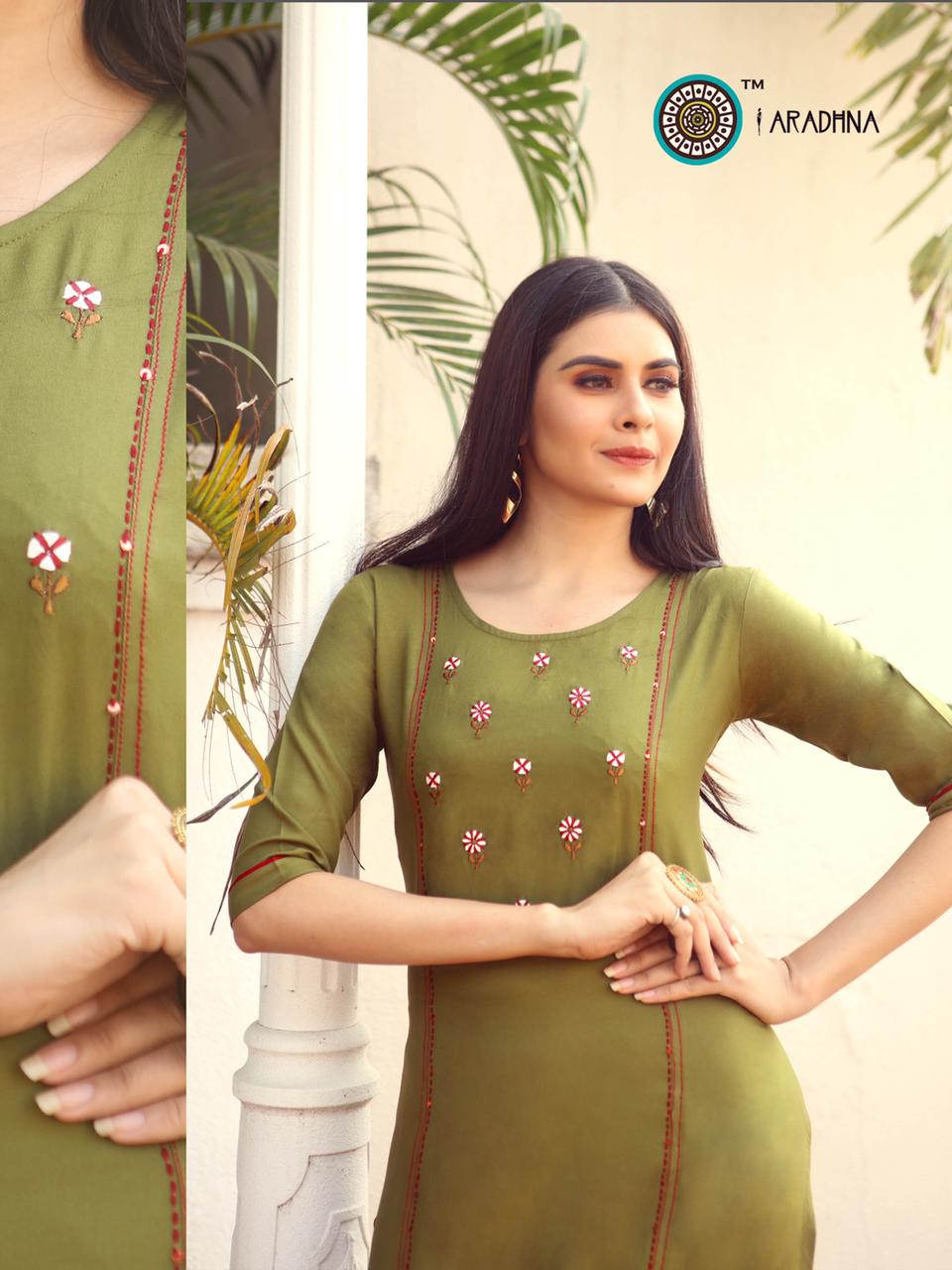 Aradhna Parrot Vol 7 Kurti Wholesale Catalog 11 Pcs 19 - Aradhna Parrot Vol 7 Kurti Wholesale Catalog 11 Pcs